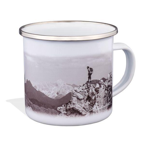 Emaille Tasse: Klettersteig